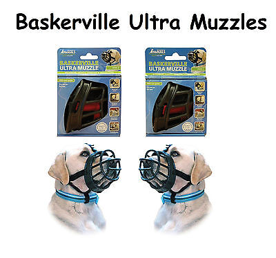 BASKERVILLE ULTRA MUZZLES for DOGS - Durable Soft Dog Muzzle - Train & Control