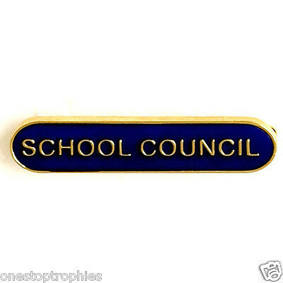 School Council Lapel Badge In 4 Colours 40MMX 8MM