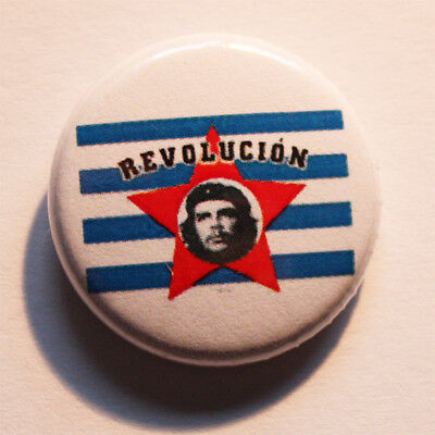 Revolucion Button / Badge Che Guevara Kuba Punk Antifa Pin Anstecker Revolution
