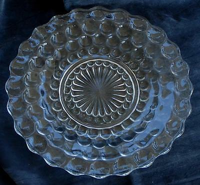 """Nice Pressed Glass  10"""" Dinner Plate, VERY GOOD CONDITION"""