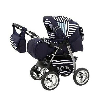 King Kombi Kinderwagen 3in1 Spar-Set + Autositz + Chromreifen
