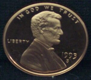 1993-S Proof Lincoln Memorial Penny - Deep Cameo!