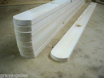 10 x Round Top 'PLANED SMOOTH' 3ft (900mm) Wooden Picket Fence Pales