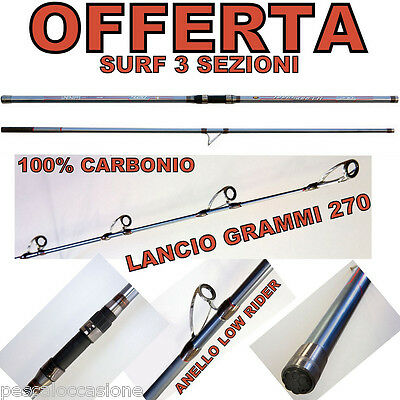 Surf Casting Canna Pesca Surfcasting 3 Pezzi 4,20 Mtup To 250 Gr Mare