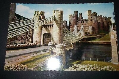 Old Postcard Of Conway Castle