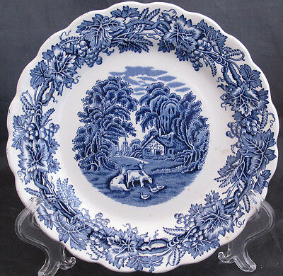 Booths British Scenery Blue Salad Plate