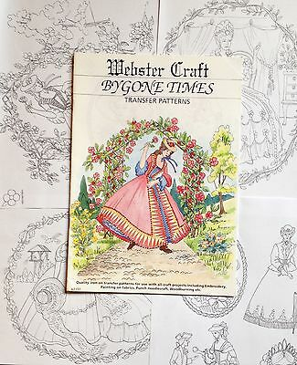4 Assorted Crinoline Lady iron on transfers 4 x A4 for Embroidery by Websters