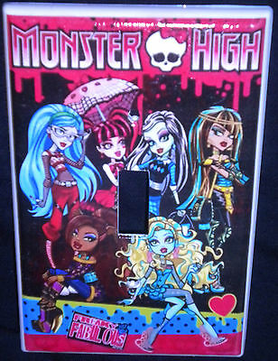 MONSTER HIGH LIGHT SWITCH COVER Girls Room Decor Single Switch Plate