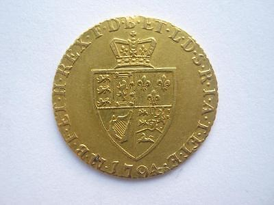 1794 George III Half Guinea, GVF but ex mount.