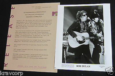 Bob Dylan 'mtv Unplugged' 1995 Press Kit--Photo