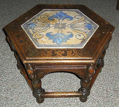 "Catalina Island Pottery Large Tile Top Table w/16"" Tile!"