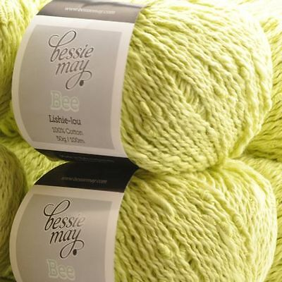 in Gentle Cream DOUBLE KNIT Bessie May Bee 100/% Cotton Yarn