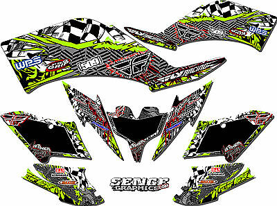 Kfx400 Kfx 400 Kawasaki Graphics Kit Decals Deco Stickers Four Wheeler Quad