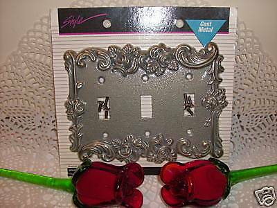 Victorian Antique Vintage Decorative Style Rose 3toggle Light Switch Cover Plate