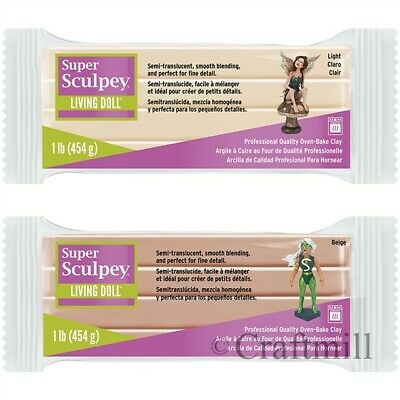 454g Super Sculpey LIVING DOLL Polymer Clay OOAK Reborn Fairy - Super Fresh