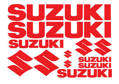 SUZUKI REPLACEMENT DECALS - SET OF 6  STICKERS (12 ITEMS) / 13 DIFFERENT COLOURS