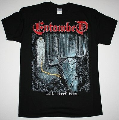 Entombed Left Hand Path'90 Dismember  At The Gates Death  New Black T-Shirt