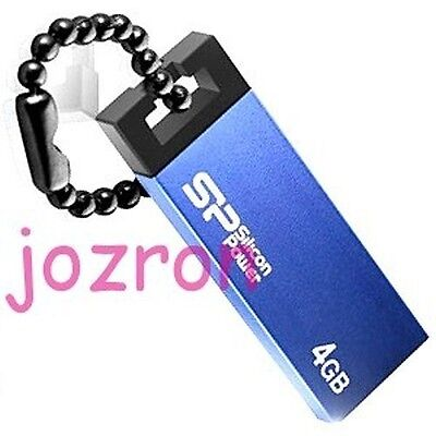 Silicon Power 835 Touch 4GB 4G USB Flash Drive Disk Stick Memory Metal Blue