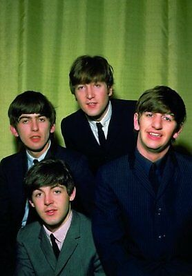 The Beatles Retro Early Years Group Colour Photograph Picture Postcard Official