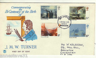 A Lovely Great Britain  Stuart Fdc 1975 Bicentenary Of Birth Of J.m.w. Turner