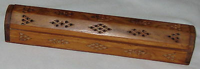 """Decorative 12"""" Wood Carved - Vented Box w Lid"""