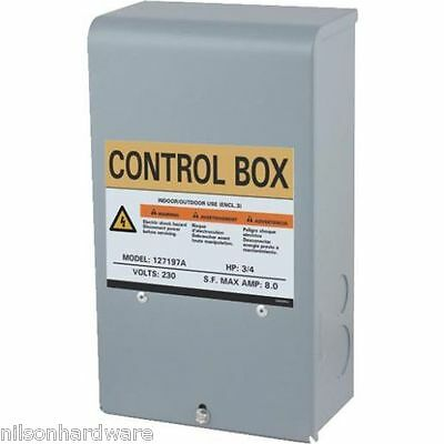 red jacket 3 4 hp well pump control box used. Black Bedroom Furniture Sets. Home Design Ideas