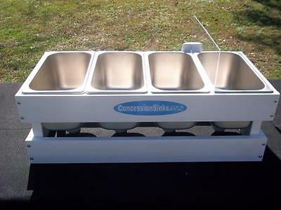 Concession Sink 3 Compartment Mobile Food Trailer Portable Hand Wash, The Micro