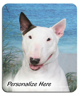 Bull  Terrier    white    Personalized  MousePad