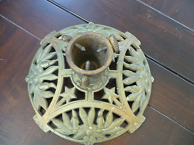 Gorgeous Antique German Christmas Tree Stand Rare Design Early 1900's