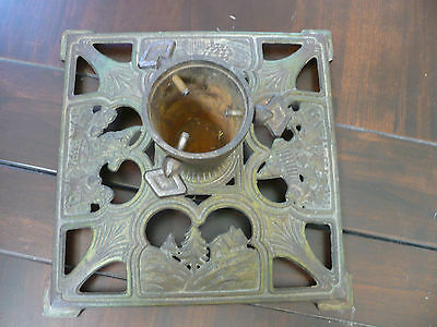 Gorgeous Antique German Christmas Tree Stand Rare Design One Of The Largest!