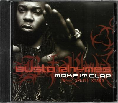 BUSTA RHYMES Make it clap w/ EDIT & INSTRUMENTAL PROMO RADIO DJ CD single 2002