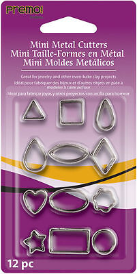 Premo Mini Metal Clay Cutter 12 pc. Sets Various Designs NEW