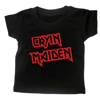 CRYIN MAIDEN BABY ROCK T SHIRT Iron Maiden Heavy Metal Band Music Gift Months BN