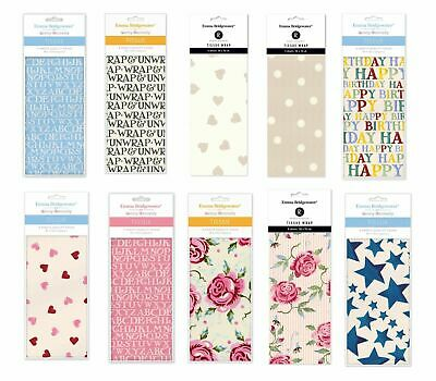 Emma Bridgewater Printed Patterned Tissue Wrapping Paper wrap 4 sheets free post