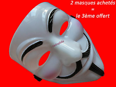 Masque V Pour Vendetta - Anonymous - Guy Fawkes - Déguisement Adulte Neuf
