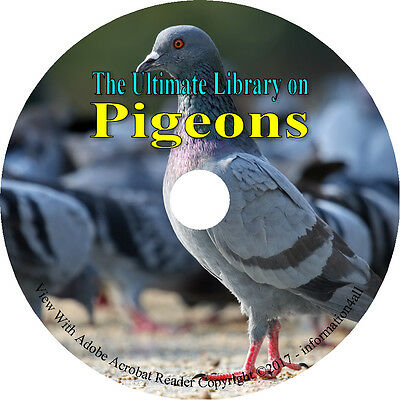 47 Books on DVD, Ultimate Library on Pigeons, Raise Profit Fancier Breed Squab