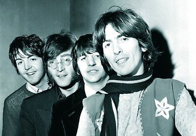 The Beatles Paperback Writer Group Photograph Picture Postcard Retro Official