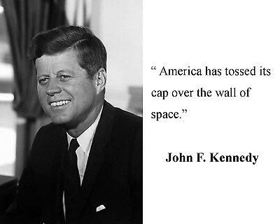 President John F. Kennedy JFK  Quote 8 x 10 Photo Picture #bwc1