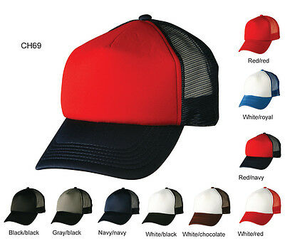 Plain Adult Mens Adjustable Contrast Trucker Cap / Hat - ch69