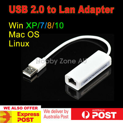 USB 2.0 to RJ45 LAN Ethernet Network Adapter for PC Laptop Win7/8/10 Mac Linux