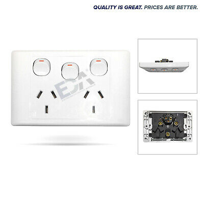 Double Power Point GPO with Extra Switch