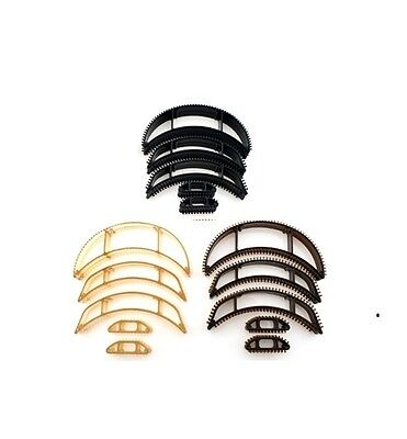 5Pc Bumpit Hair Clip Set -Blonde- Black  - Brown -Strawberry & White Available