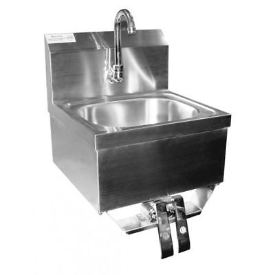 "Hand Sink w/ Knee Operated Valve S/S 16""x15"" *No Lead Faucet*"