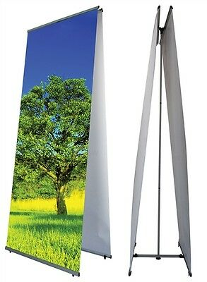 """L Banner Stand - Double Sided - 31.5"""" x 78.75"""""""