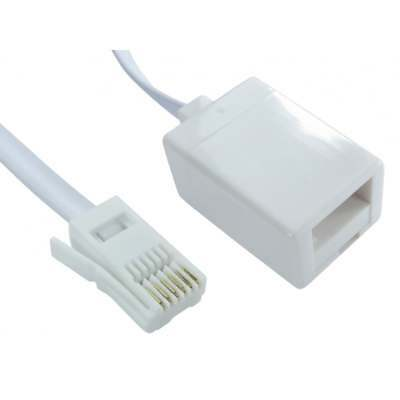 5m BT FULLY WIRED 6 Core Telephone Extension Cable - Extend lead from UK phone
