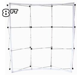 8 ft Fabric Pop Up Trade Show Display Frame Package - Curved Single Side