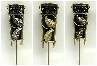 In Loving Memory Grave Vase With Metal Spike (different Messages Available)