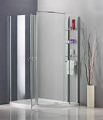 1150 x 800mm Walk In Pivot Shower Enclosure Door Cubicle Stone Tray A90