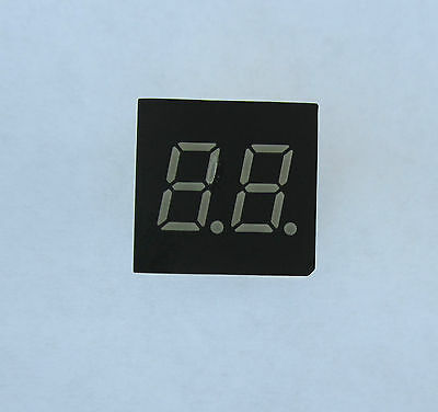 LED Segment Display 2 digit, 7 segment, .30 inch, green, common cathode, 5 pcs