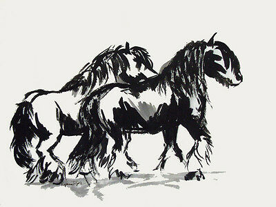 Gypsy Vanner Gypsy Troika Horse Cob note cards